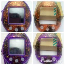 Halloween Glitter Resin Tamagotchi Faceplates by TiellaNicole