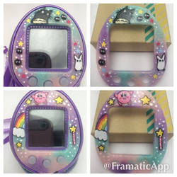 Custom Kirby and Totoro Tamagotchi Faceplates by TiellaNicole