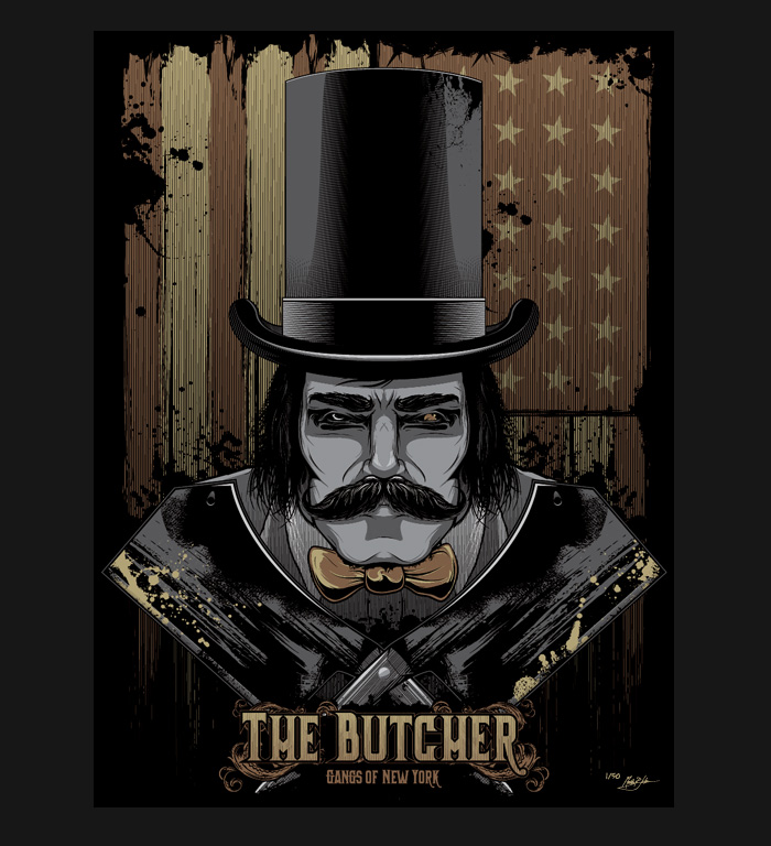The Butcher 18x24 Screen Printed Poster by seventhfury