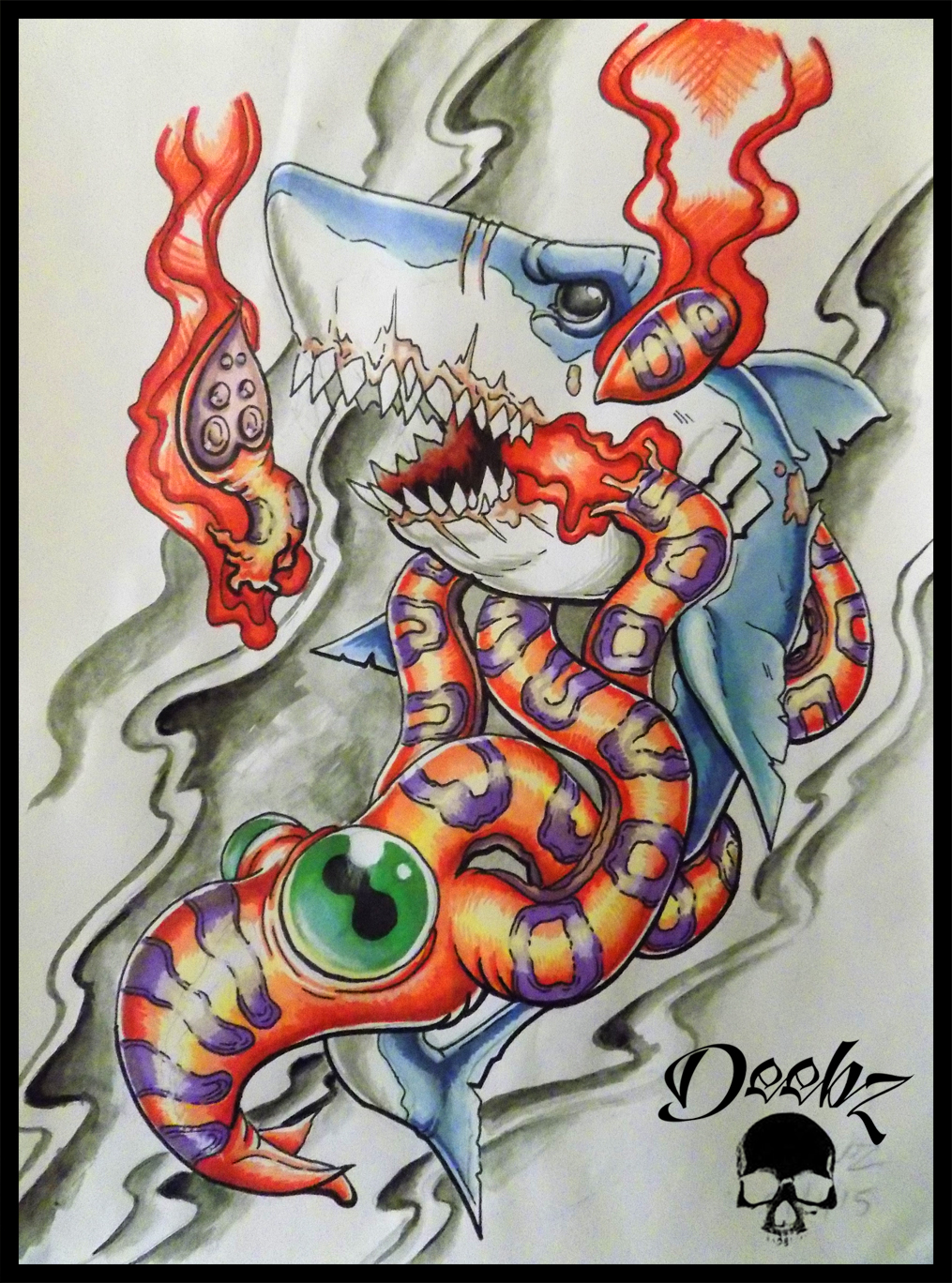 Squid Shark By Deebz Design On Deviantart