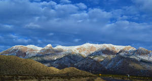 Dusted Sandia Mountains