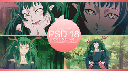 +: PSD | Coloring #18 :+
