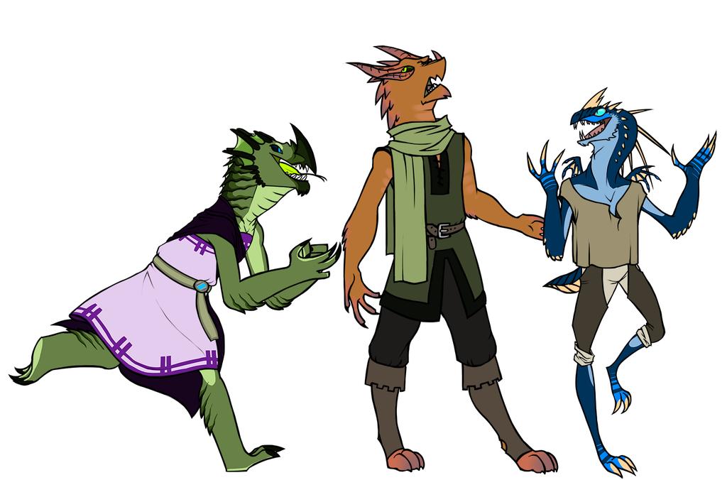 Dragonborns by CheshireCatGrin