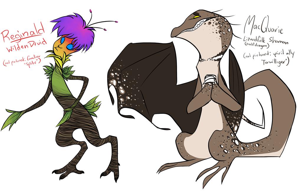 Reginald and MacQuarie by CheshireCatGrin