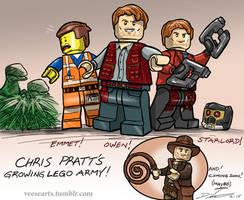 Chris Pratt Lego Army Sketch by DanVeesenmeyer