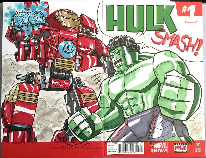 Lego Hulk vs Hulkbuster commission by DanVeesenmeyer on ...