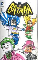 Lego Batman 1966 TV style Comic Cover by DanVeesenmeyer