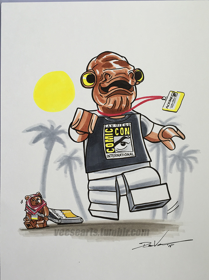 Lego Star Wars Admiral Ackbar San Diego Comic Con by DanVeesenmeyer ...