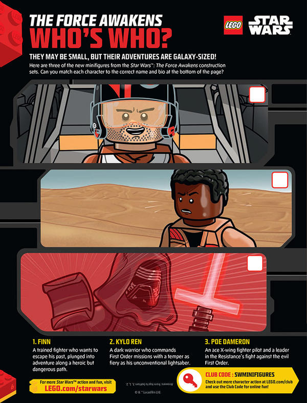 LEGO Star Wars The Force Awakens Who's Who page by DanVeesenmeyer ...