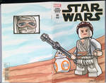 Lego SWTFA Rey and BB-8 Sketch Cover
