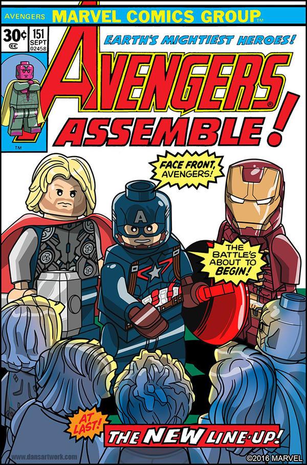 Lege Marvel Avengers Cover 151 By DanVeesenmeyer