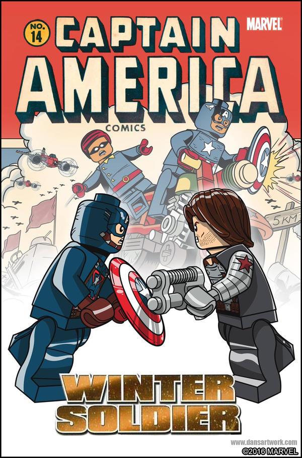 Lego Marvel Avengers Cover Captain America 14 by