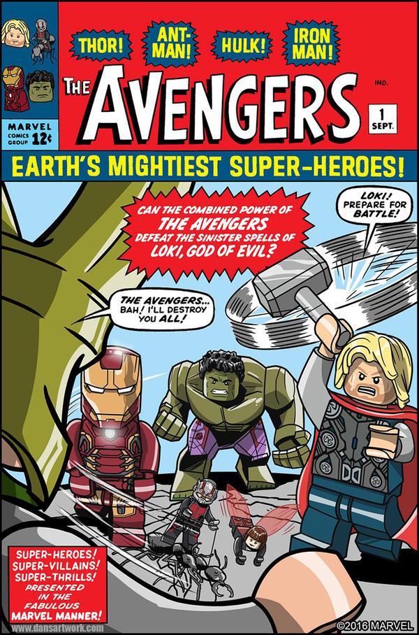 Lego Marvel Avengers Cover 1 By DanVeesenmeyer