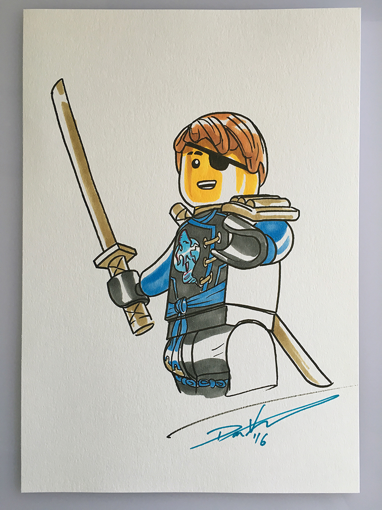 sdcc16 lego ninjago jay sketchdanveesenmeyer on deviantart