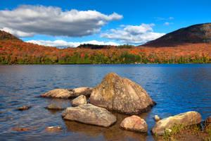Autumn Lake Stukely II by boldfrontiers
