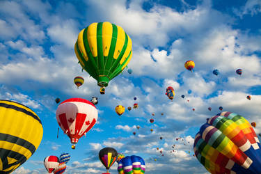 Vibrant Hot Air Balloons II by boldfrontiers