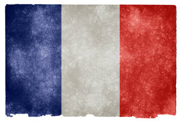 France Grunge Flag by boldfrontiers