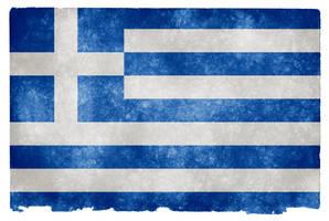 Greece Grunge Flag