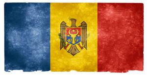 Moldova Grunge Flag