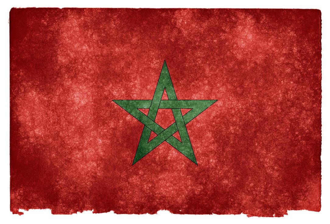 Morocco Grunge Flag by somadjinn