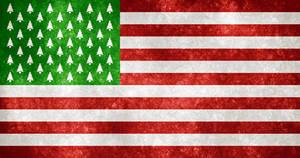 USA Grunge Flag - Christmas Edition