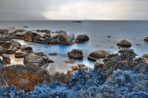 Blue Boulders Beach by boldfrontiers