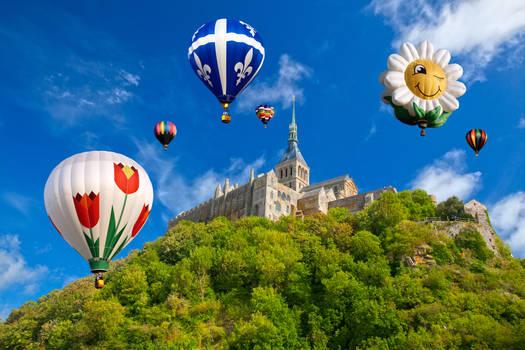 Hot Air Balloons of Mont Saint-Michel I
