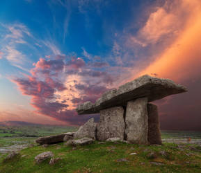 Dolmen Sunset by boldfrontiers