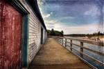 PEI Beach Boardwalk - Vintage Grunge I
