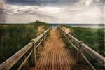PEI Beach Boardwalk - Vintage Grunge II