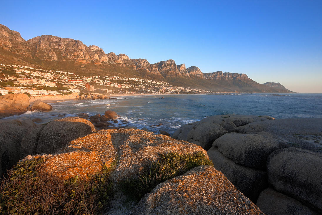 Cape Town Sunset - HDR Stock by somadjinn