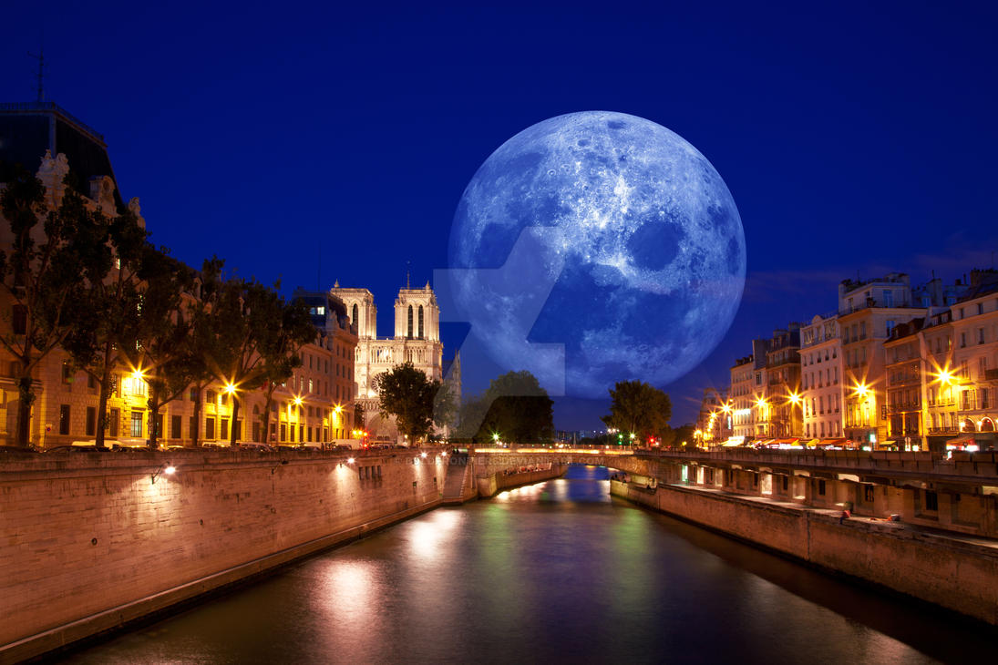 Paris Moon Light - Exclusive Stock by somadjinn