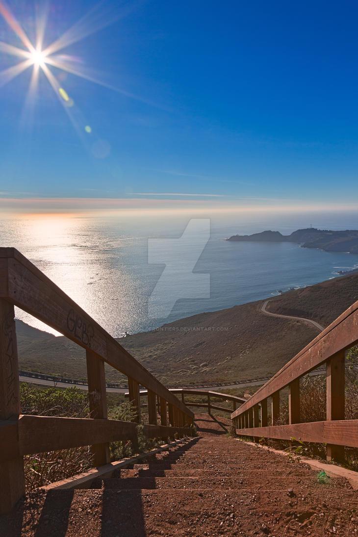 Stairway to San Francisco Bay II - Exclusive HDR by somadjinn