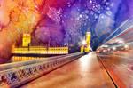 Vibrant Watercolor Lights of London