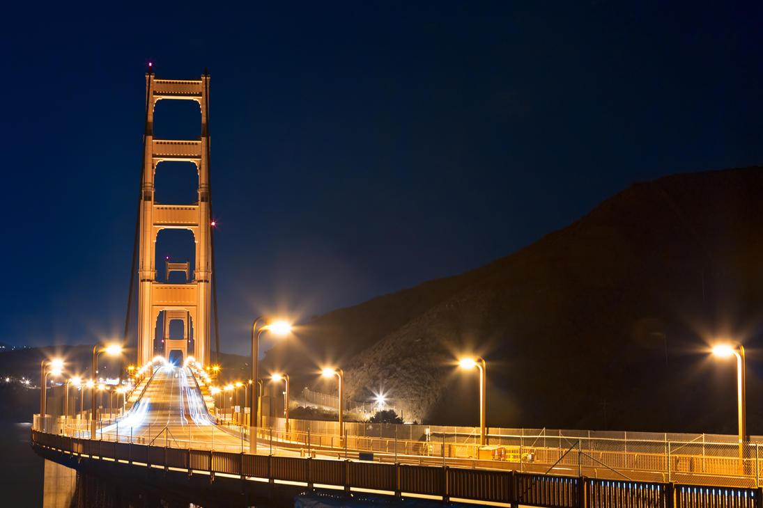 Golden Pre-Dawn Bridge - Free High Res Stock by somadjinn