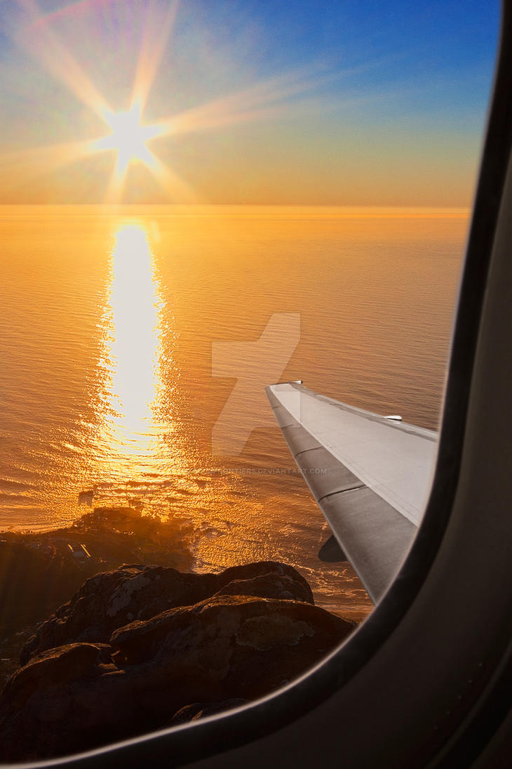 Airplane Sunset - Exclusive Premade Stock by somadjinn