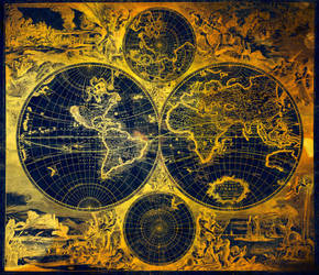 Golden Grunge Age Map