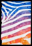 Acrylic Zebra Paper by boldfrontiers