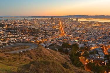 San Francisco Sunrise III by boldfrontiers