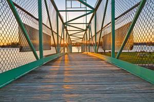 Casino Island Sunset Bridge by boldfrontiers
