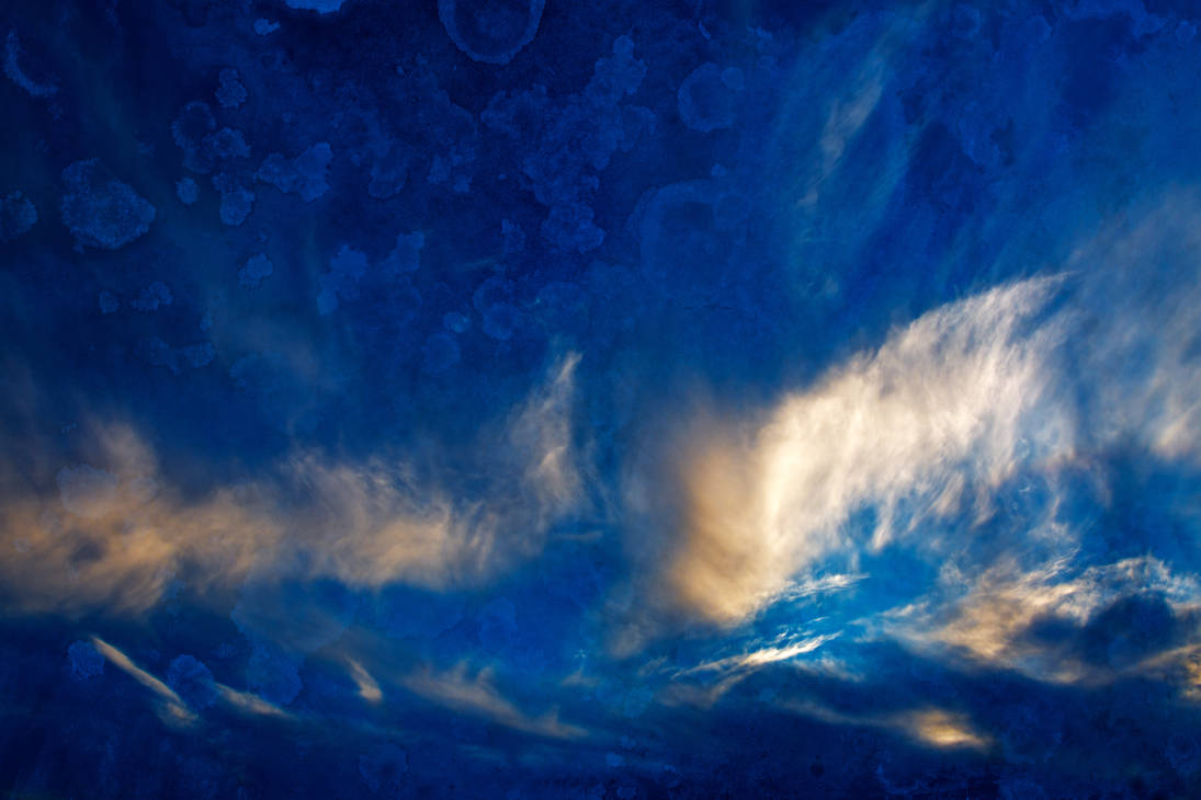 Acrylic Sunset Clouds by boldfrontiers