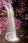 Pink Glencar Falls