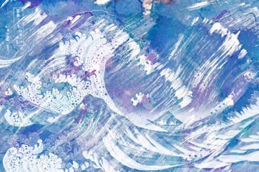Acrylic Kanagawa Wave