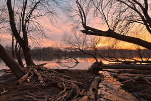 Potomac River Sunset - Edwards Ferry by boldfrontiers