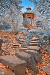 Oriental Sapphire Garden (freebie) by boldfrontiers