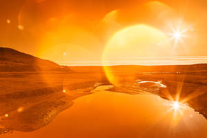 Twin Suns of Point Reyes - Gold Bokeh Bliss by boldfrontiers