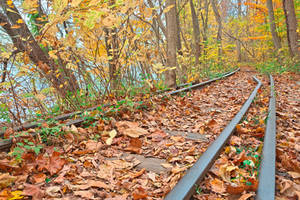 Abandoned Autumn Railroad by boldfrontiers