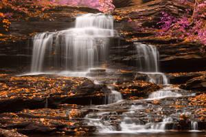 Onondaga Falls - Pastel Fantasy by boldfrontiers