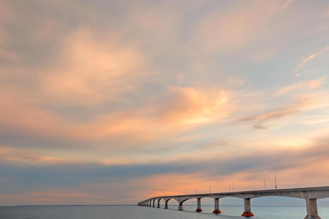 sunset sky bridge by somadjinn on deviantart