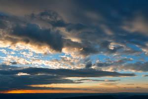 Vibrant Sunrise Cloudscape by boldfrontiers